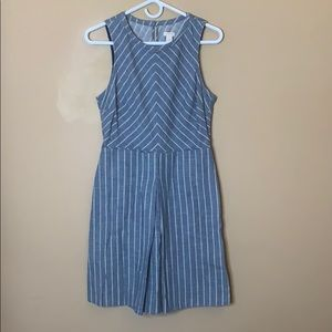 J. Crew striped chambray dress